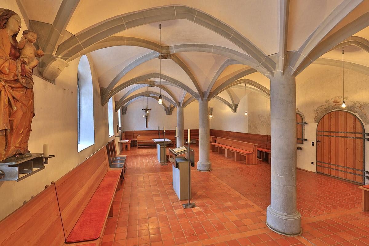 Blick in den Kapitelsaal des Klosters Heiligkreuztal; Foto: Staatliche Schlösser und Gärten Baden-Württemberg, Markus Schwerer