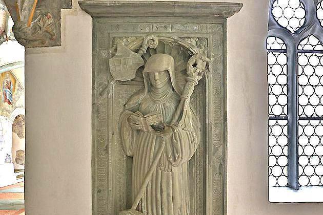 Sandsteinepitaph der Veronika von Rietheim im Kloster Heiligkreuztal