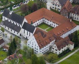 Luftaufnahme des Klosters Heiligkreuztal; Foto: Staatliche Schlösser und Gärten Baden-Württemberg, Achim Mende