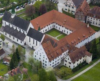 Luftansicht des Klosters Heiligkreuztal; Foto: Staatliche Schlösser und Gärten Baden-Württemberg, Achim Mende