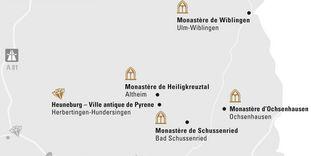 """Carte de région """"Haute-Souabe et Ulm"""""""