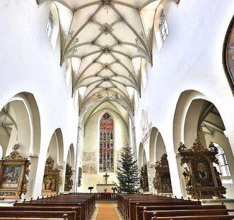 Innenraum der Klosterkirche St. Anna des Klosters Heiligkreuztal; Foto: Staatliche Schlösser und Gärten Baden-Württemberg, Markus Schwerer