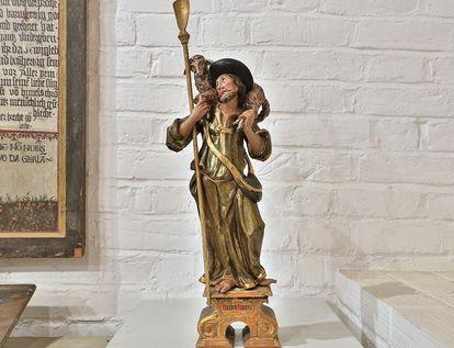 Skulptur Guter Hirte im Museum in der Bruderkirche des Klosters Heiligkreuztal; Foto: Staatliche Schlösser und Gärten Baden-Württemberg, Markus Schwerer