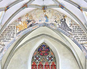 Chorbogen in der Klosterkirche St. Anna des Klosters Heiligkreuztal; Foto: Staatliche Schlösser und Gärten Baden-Württemberg, Markus Schwerer