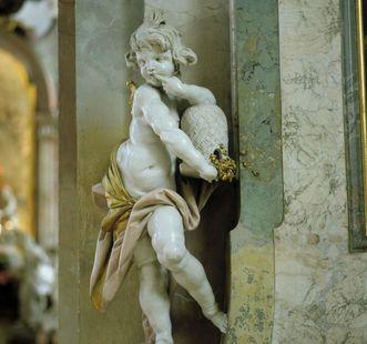 """Figur """"Der Honigschlecker"""" in der Wallfahrtskirche Birnau"""