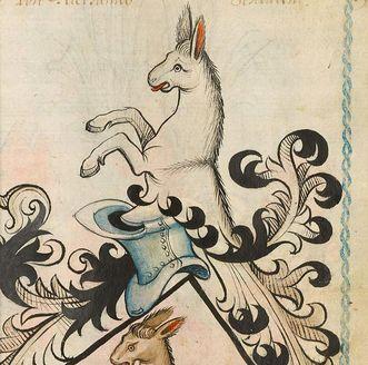 Familienwappen der Adelsfamilie Rietheim aus dem Scheibler'schen Wappenbuch