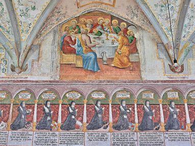 Kloster Heiligkreuztal, Bilder an einer Wand