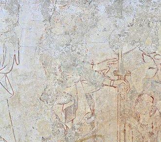 Klostergründung mit Bernhard von Clairvaux, Fresko im Kapitelsaal des Klosters Heiligkreuztal; Foto: Staatliche Schlösser und Gärten Baden-Württemberg, Markus Schwerer