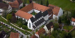 Luftansicht von Kloster Heiligkreuztal